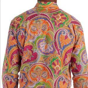 Alan Flusser Shirts - EUC Alan Flusser Paisley Print Long Sleeve Size Lg